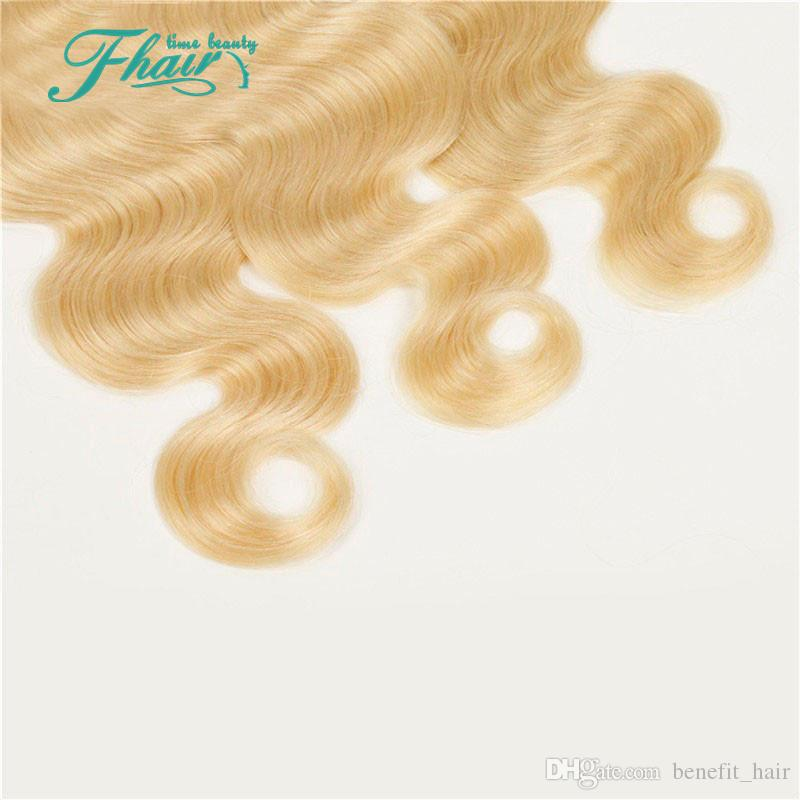 Pur 613 Cheveux blonds 3 Bundles 9A Maylasian Cheveux Vague de Corps Pleine Tenue des Cuticules, Sans Rejet, Aucun Enchevêtrement 100g / Pcs Livraison Gratuite DHL
