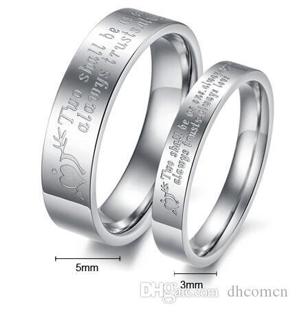 심장 티타늄 강철 커플 반지 패션 쥬얼리 고품질의 웨딩 파티 선물 반지 도매 한국어 스타일의 새로운 스타일