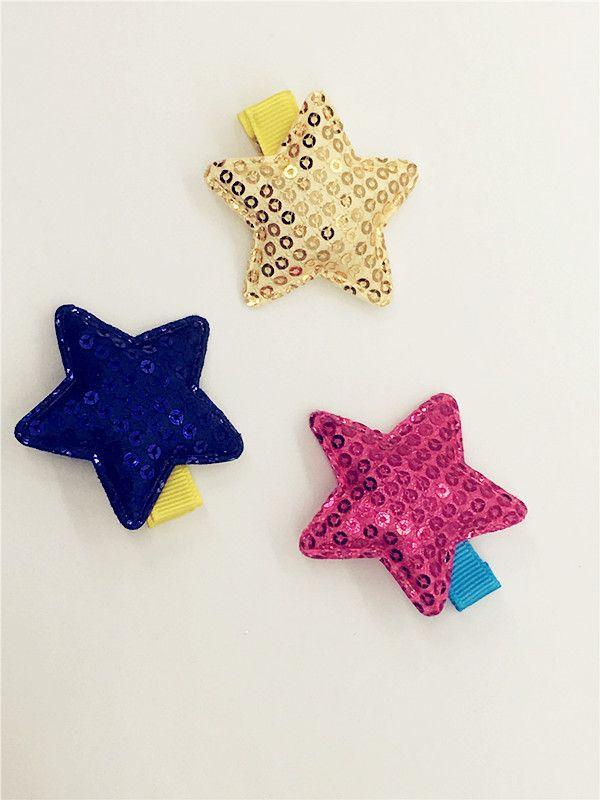 Gros Boutique Mode Mignon Glitter Paillettes Étoiles Bébé Filles Épingles À Cheveux Bébé Gilrs Accessoires De Cheveux