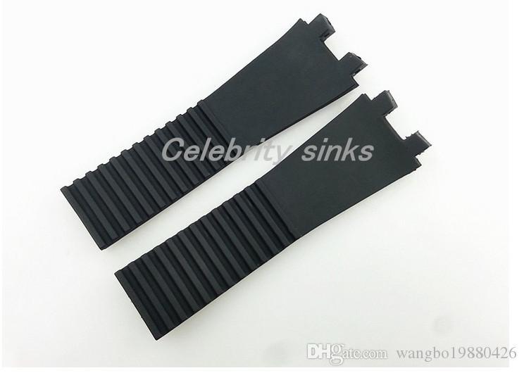 Caucho Negro reloj de buzo venda de la correa de 27 mm nuevo de alta calidad