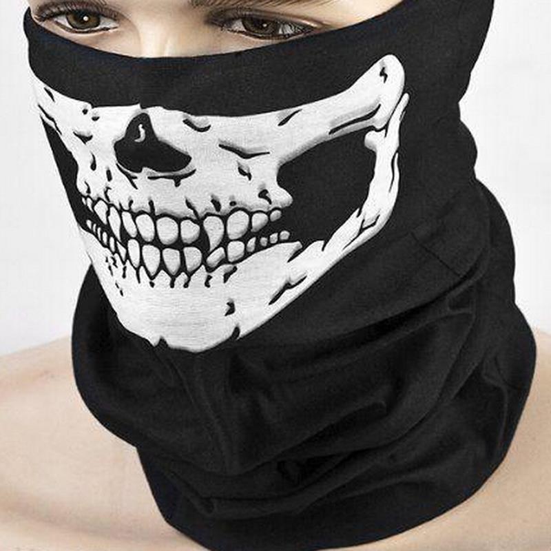Crânio Design Multi Função Bandana Esporte Esqui Motociclista Cachecol Máscaras Faciais Máscara Facial Ao Ar Livre Cor Preta