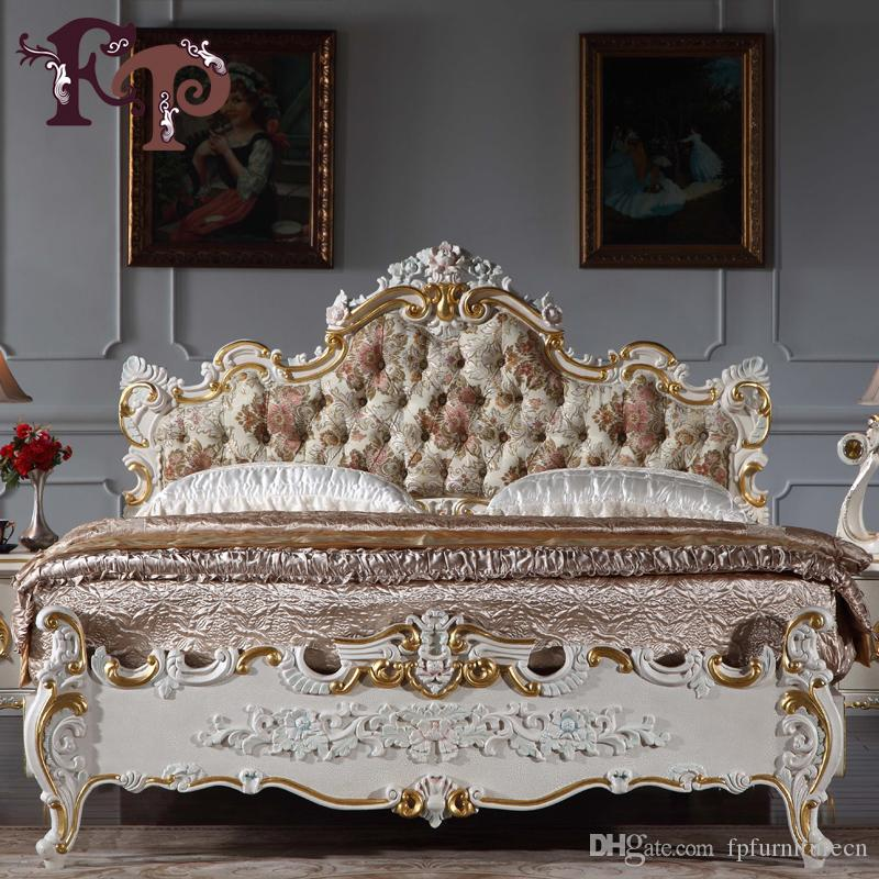 Baroque European Furniture royal Antique Furniture Bedroom BAROQUE