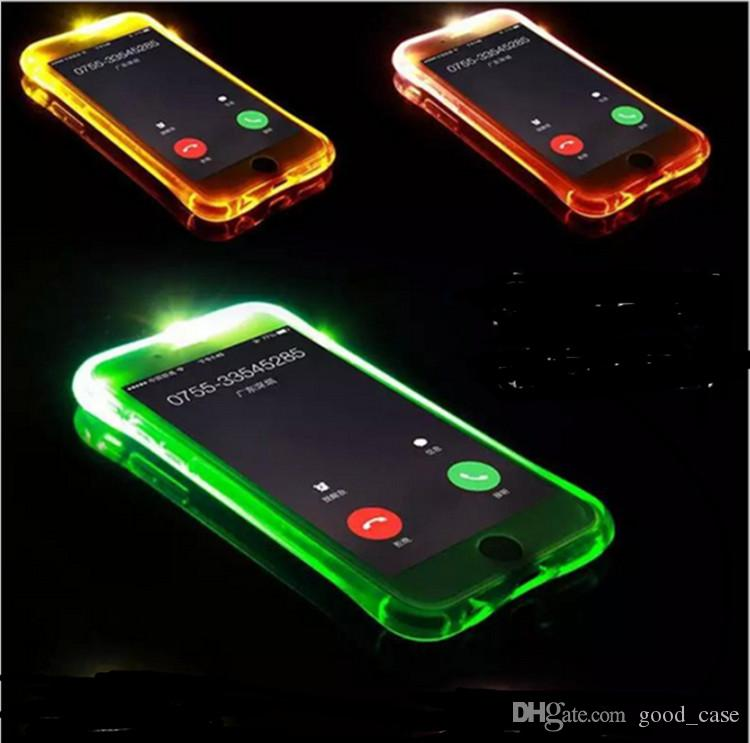 for iphone 7 case incoming calls flash up led light cases smallfor iphone 7 case incoming calls flash up led light cases small waist transparent clear cover for iphone 5s se 6s 7 plus samsung note 5 s7 glitter cell
