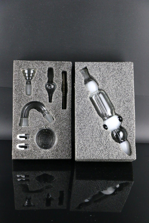 Nectar Collecter Kit Bubbler Bohrinsel Glas Huka mit 14mm Titan Nagel zwei Funktionswasserglas bong Sammler dab rig