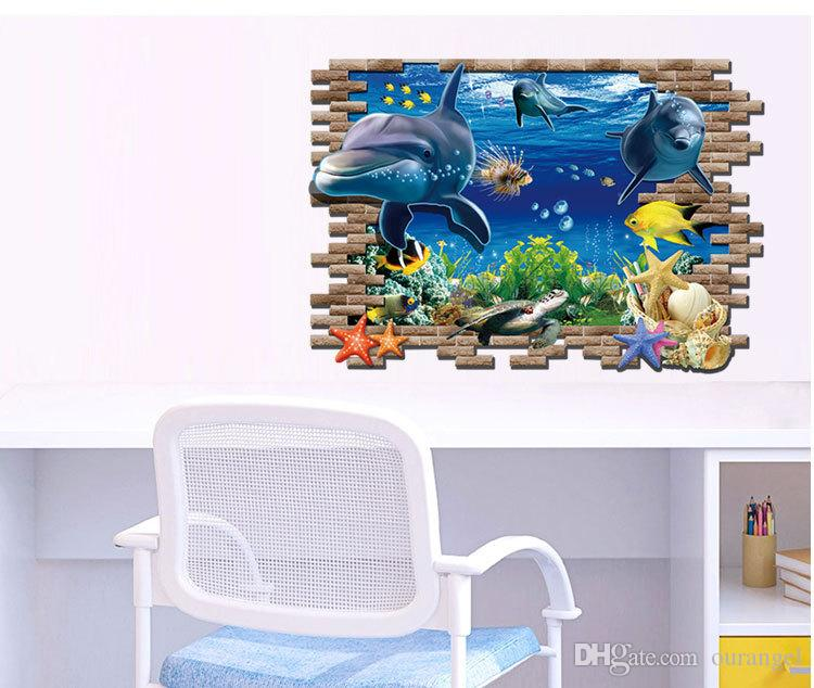 60*90cm New Finding Nemo Wall Stickers 3d Catoon Baby Room Wall Decals  Bedroom Living Room Removable Wall Stickers Murals Stickers For Wall Decor  Stickers ...