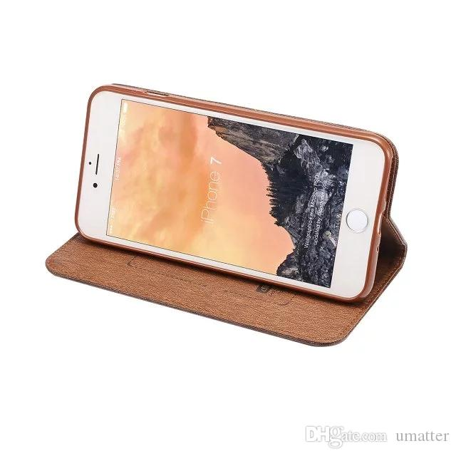 PU Leather Case for iPhone 7/Plus for Note7 With Magnetic Force Colorful Wallet Cover Card Slot Flip Stand Shell /UP