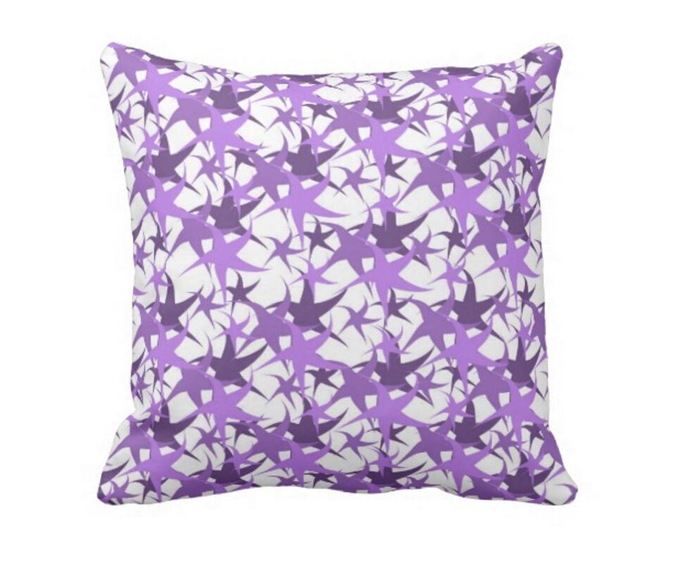 Throw Pillow Case, Double-sided print Dancing Stars Square Sofa and Car Cushion Cover 16inch, 18inch, 20inch