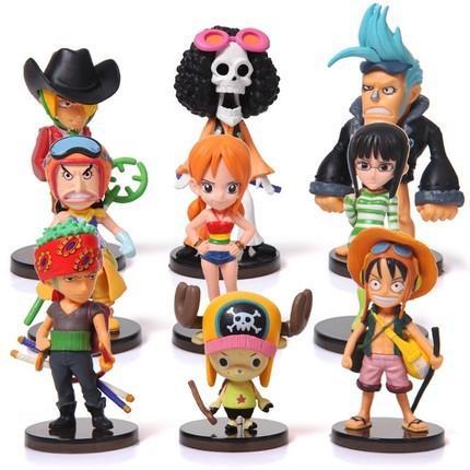 Anime One Piece 64 Bebekler Action Figure Oyuncaklar 9 adet / takım Bebek Karikatür Modeli Çocuk Bebek Hediye