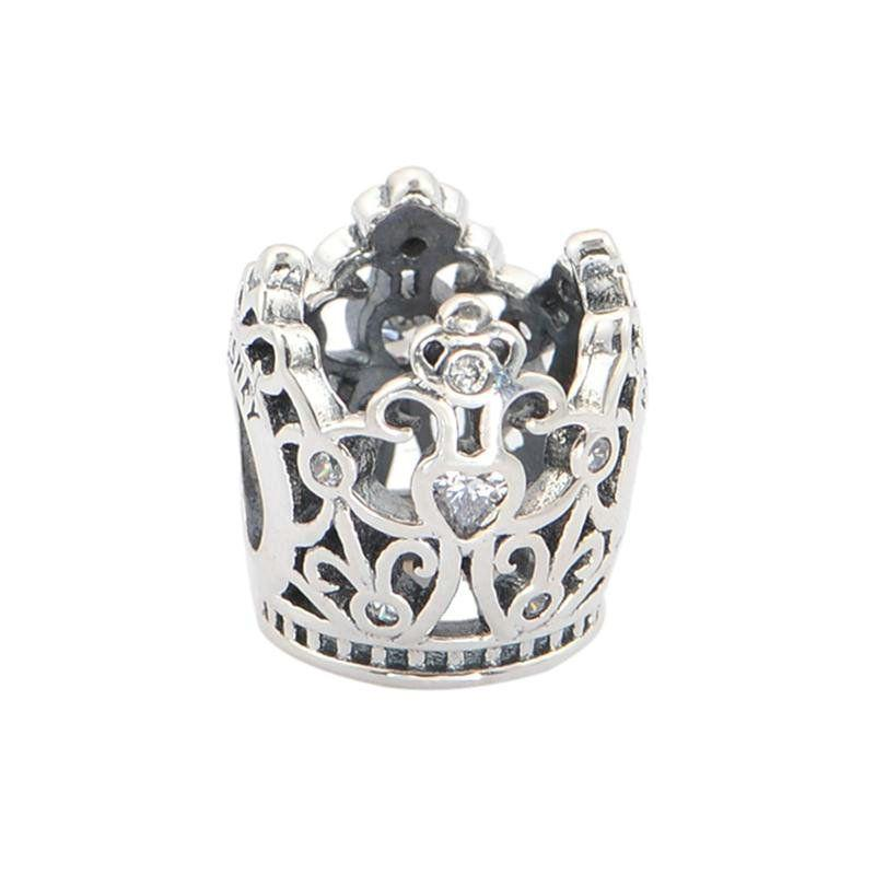 crown charms beads pendants men 925 sterling silver fits DIY pandora style bracelet and necklace hot sale LW464