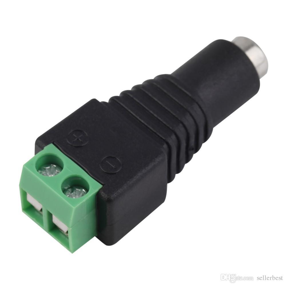 2.1 x 5.5mm DC Power Female Plug Jack Adaptador Conector Conector para CCTV LED Strip Light hot new