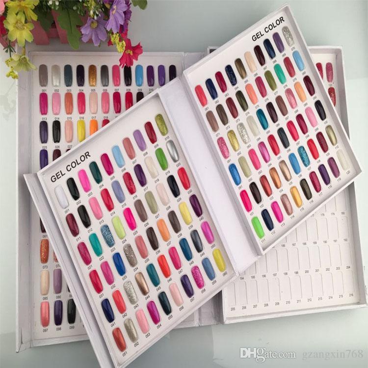 Book Nail Gel Polish Display Book Chart Cute Nail Designs DIY Nail ...