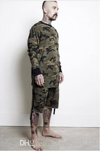 566aa848e6e80 Oversized Camo Hip Hop Justin Bieber Clothes Street Wear Kpop Urban  Clothing Mens Long Sleeve Longline Shirt Swag Clothes Online with  $28.58/Piece on ...