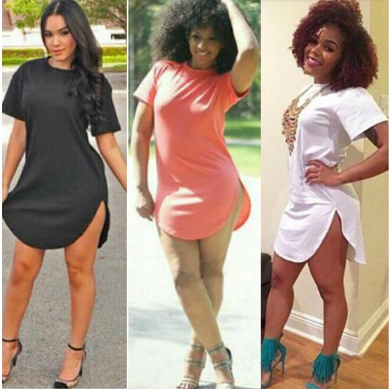 Women Summer 2016 Sexy Bandage Bodycon Part Short Sleeve Cotton Tshirt Dress  Plus Size Night Club Party Summer Casual Dresses Vestidos S-4XL d1b1bc3e5192