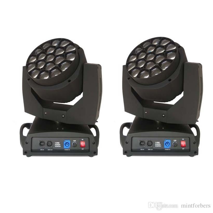 Paquete de 2 Big Eye LED con luz de efecto Haz de luz de lavado de luz 12w RGBW Lámpara Led DMX 21/96 canales Iluminación de escenario