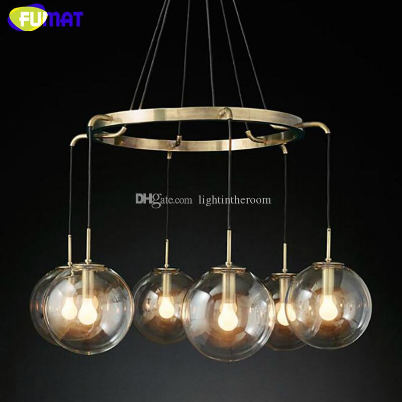 Fumat modern round clear glass ball chandeilers restaurant hanging fumat modern round clear glass ball chandeilers restaurant hanging light fixtures bedroom living room lamps stained glass pendant light hand blown glass aloadofball Image collections