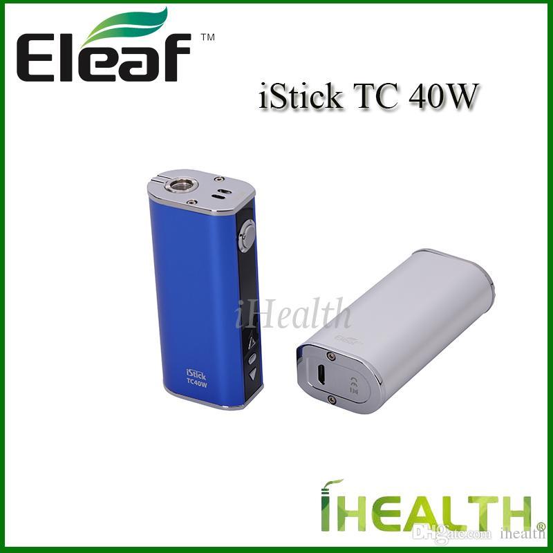 Auténtico Eleaf iStick TC 40W Mod 2600mah Batería incorporada 40w Control de temperatura Mod Paking simple 4 opciones de color Envío rápido DHL gratis