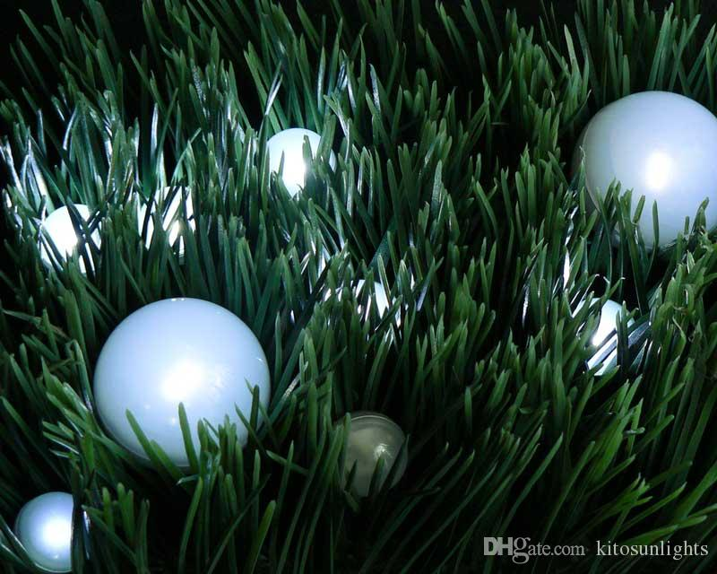 Holiday Party Decorations Available Ball-shaped LED Fairy Pearls Lights 3/4inch Diameter 2CR1220 Lithium Coin Cell Batteries Power