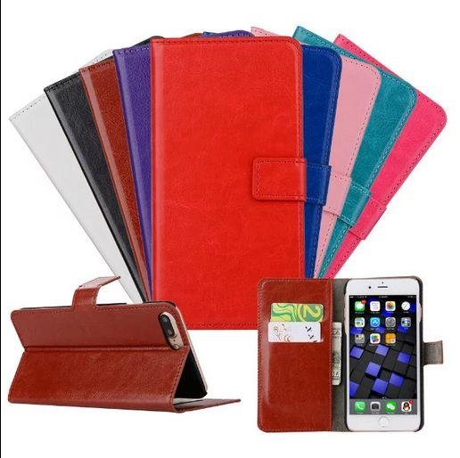 Pour iPhone 7 / iPhone 7 plus Etui portefeuille en cuir Flip Cover hybride DHL