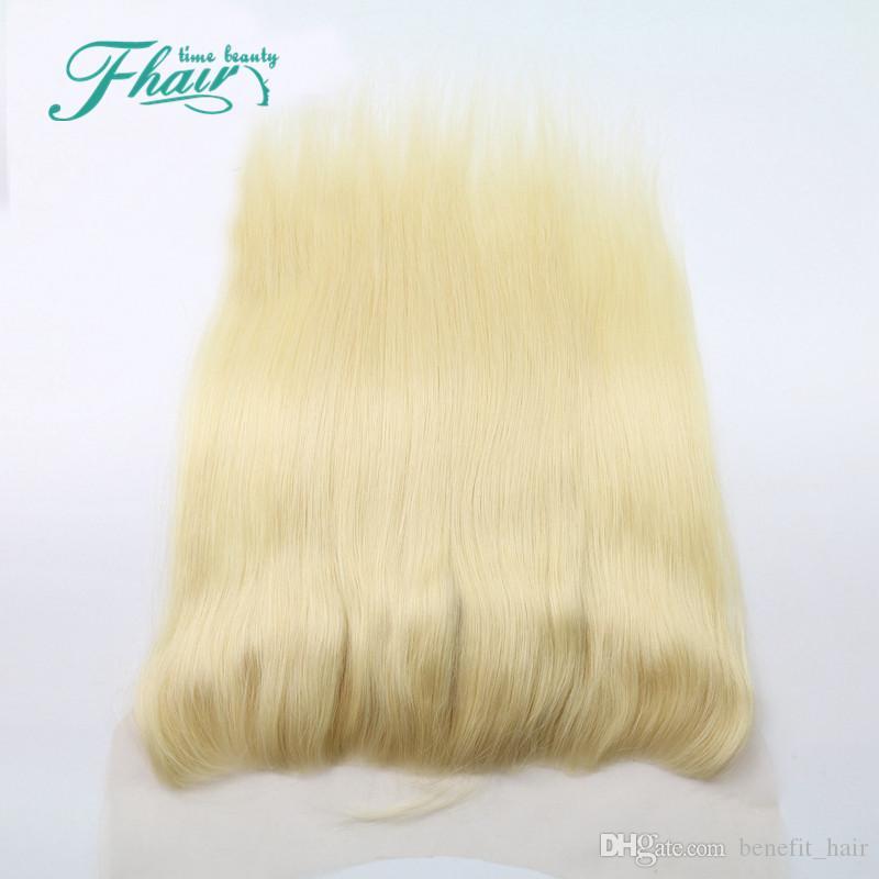 613 Blonde Spitze Frontal 13x4 Peruanische Haarkörperwelle Volle Spitze Frontal Closure Gebleichte Knoten Schweizer Spitze Kostenloser Versand