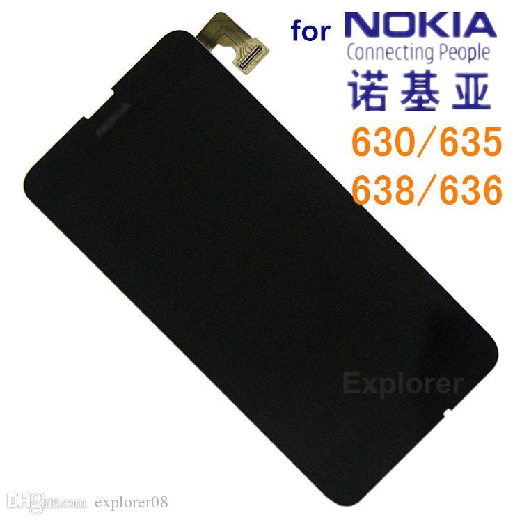 LCD Display + Touchscreen Digitizer Assembly mit Rahmen für Nokia Lumia 635 vs 630 LCD Assembly + gehärtetes Glas + Werkzeuge /