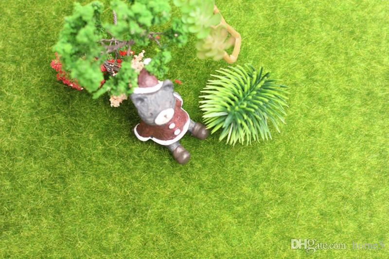 Micro Landscape Decoration DIY Mini Fairy Garden Simulation Plants Artificial Fake Moss Decorative Lawn Turf Green Grass 15x15cm