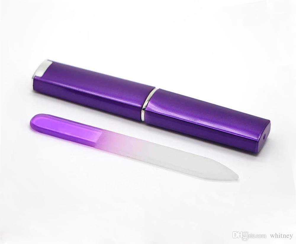 Lima de uñas de cristal de vidrio con un disco CASO 3 1/2