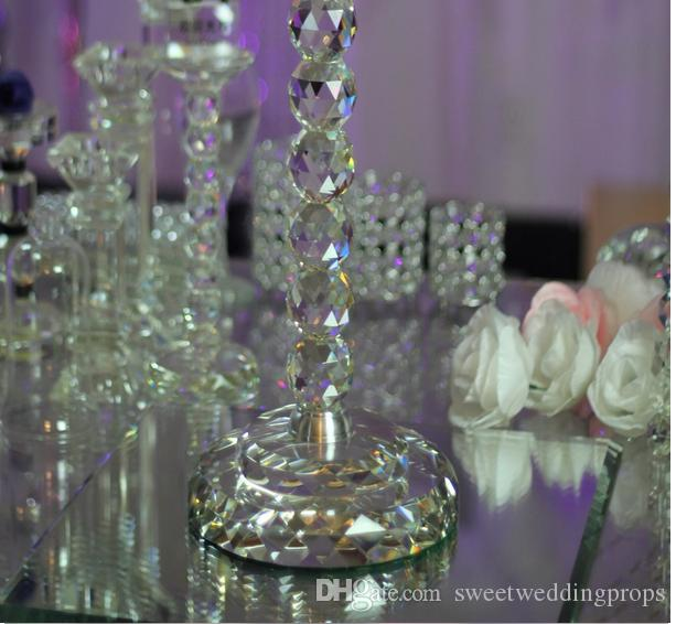 Ücretsiz kargo Perakende Tall kristal düğün centerpiece çiçek standı çiçek raf 35.43 inç