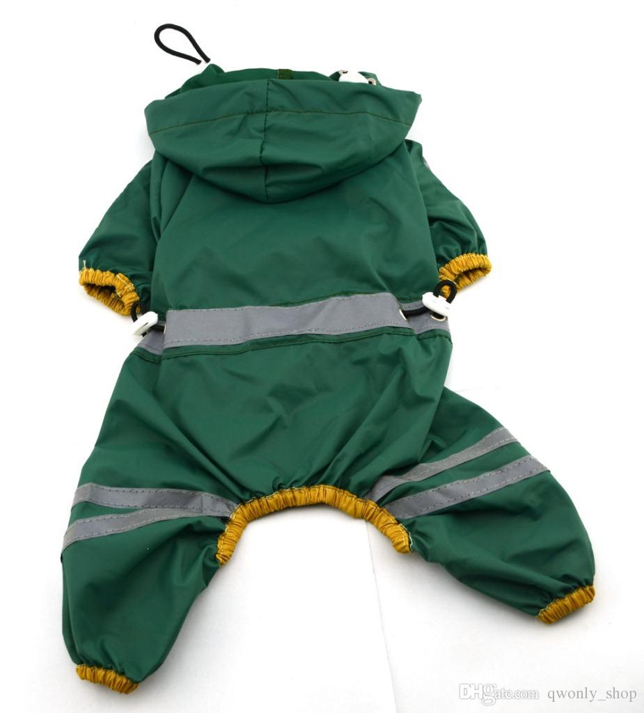 Net Pet Dog Cool Raincoat Apparel Puppy Cat Glisten Bar Hoody Waterproof Rain Coat Lovely Jacket Clothes XS/S/M/L/XL/XXL