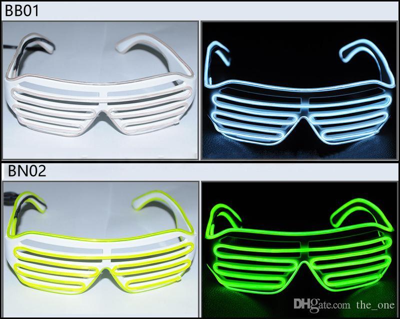 3 modi schnelles blinken el led gläser leuchtende partei beleuchtung bunt leuchtende classic toys für dance dj party maske rave kostüm