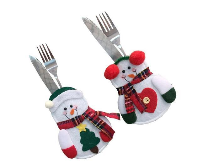 Hot Sale Fancy Santa Christmas Decorations Knife and fork Holders Dinner Table Christmas decorations