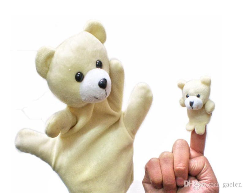 Puppet Animal Baby Peluche Finger Puppets Talking Props 10 animal group Giocattoli educativi bambini mani burattino