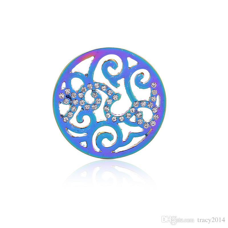 Mi Moneda coin 33mm Round coin Aromatherapy Diffuser Locket Floating Lockets platinum sunflower Pendant Necklace DIY coin