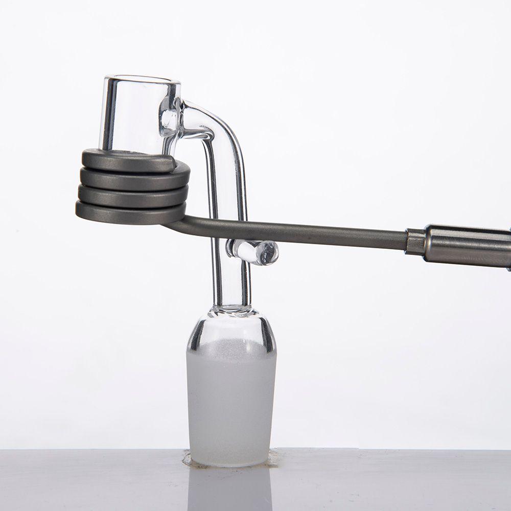 4mm 두꺼운 석영 Banger는 훅 전자 석영 Banger 못 20mm 난방 코일 유리 Bongs 물 파이프에 대 한 Domeless