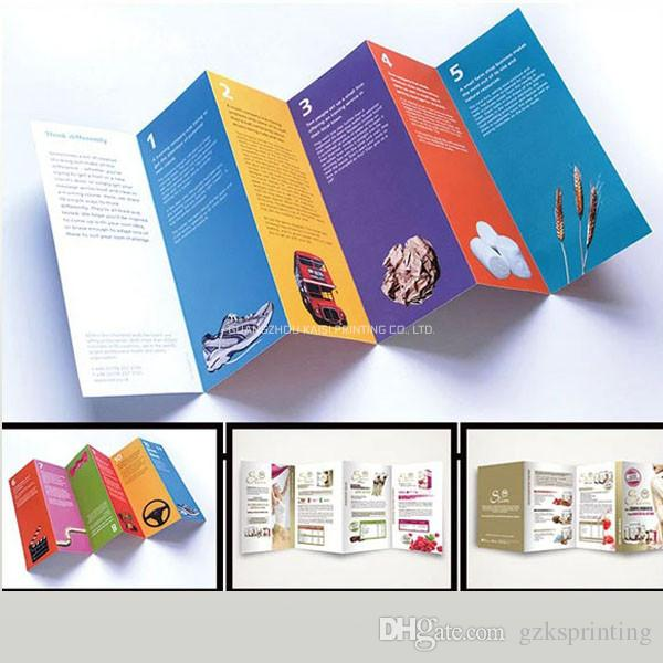 Custom Flyers Printing Service In High Quality Multi Fold Full Color Various Sizes Leaflets For Product Promotion 128g 157g 105g Pulp And Paper