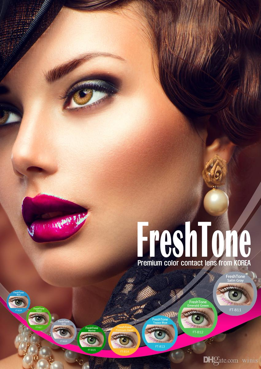 Color contact lenses online shop - Hot Selling Made In Korea Freshtone Monthly Cosmetic Circle Eye Lenses Color Contact Lens