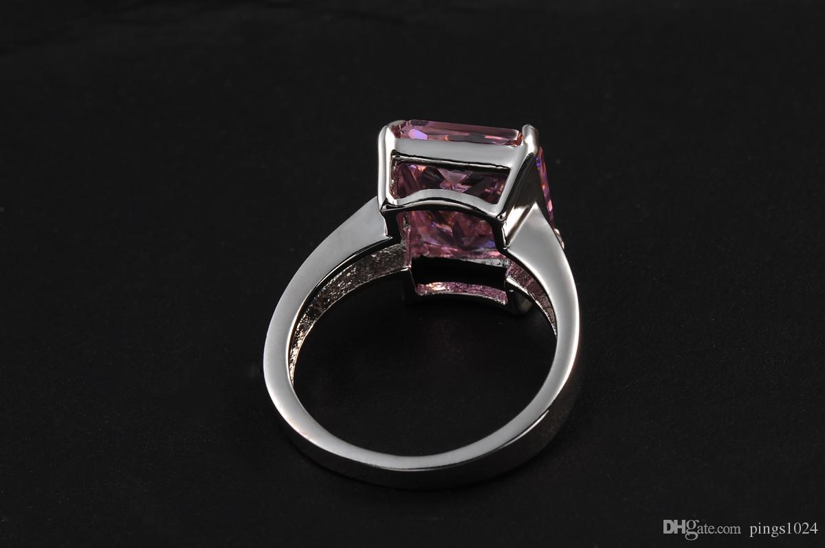 ROXI Marke Luxus Liebe Link Ringe für Frauen Pfeil Herz Cuting Kristall Ringe Schmuck Frauen Rosa Hochzeit Verlobungsfeier Ring