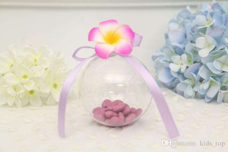 Decorações de natal bolas openable transparente pendurado bola de natal bugigangas de plástico claro de natal Bauble ornamentos Presente T422