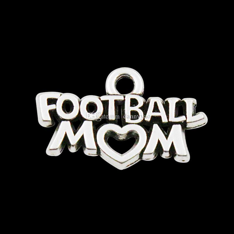 Online Wholesale Alloy Football Mom Letter Charms For Football Sport Theme AAC1165