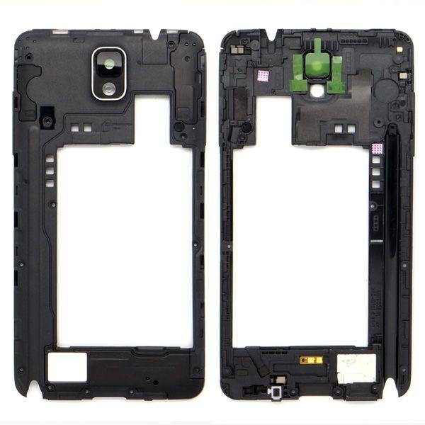 Cadre de boîtier de cadre moyen + objectif pour Samsung Galaxy Note 3 N9005 blanc / noir