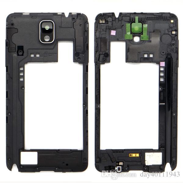 Middle Frame Gehäuse Lünette + Kameraobjektiv für Samsung Galaxy Note 3 N9005 Weiß / Schwarz