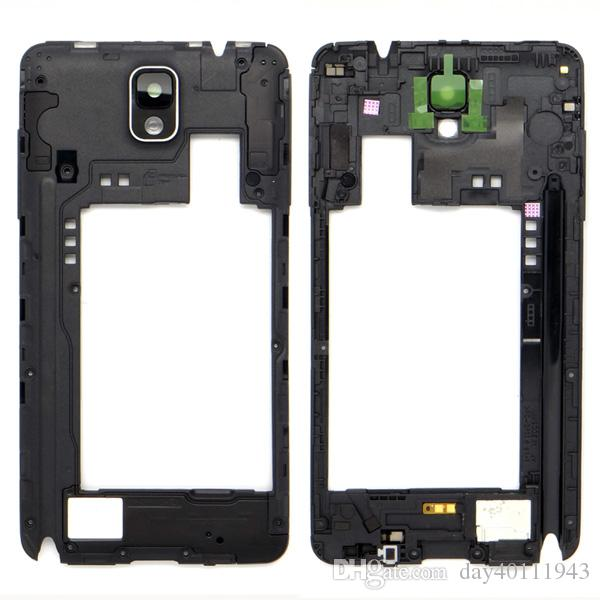 Middle Frame Housing Bezel + Camera Lens for Samsung Galaxy Note 3 N9005 White/Black