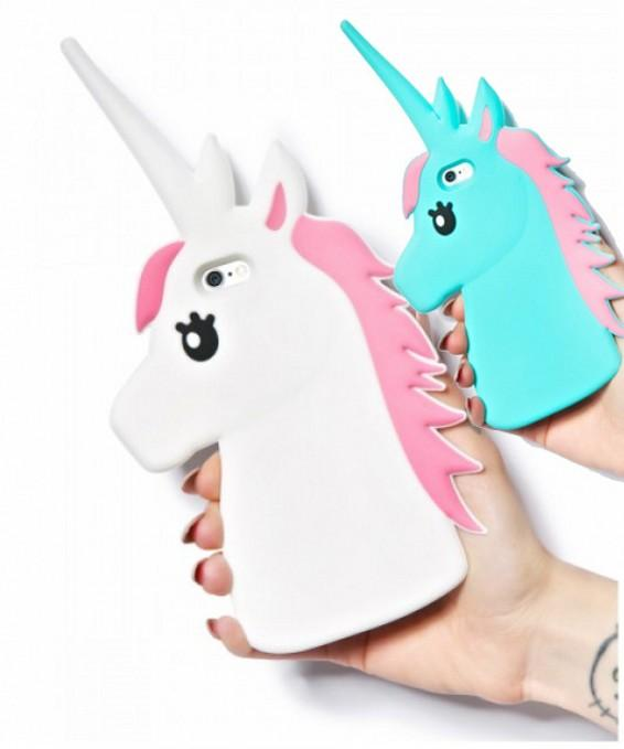 watch c472e 1210a New 3D Cute Cartoon Unicorn Soft Silicone Rubber Case Cover For iPhone 4 4S  5 5S 5C 6 6S 4.7 6/6S Plus 5.5 White Horse Cases