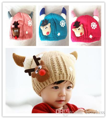 Christmas Autumn Winter Wholesale Baby Hat Boys Girls Hand Knitted Caps Kids  Crochet Knit Hat Beanie Hat Caps Children Crochet Hats A1286 UK 2019 From  ... 532f4f91ffc