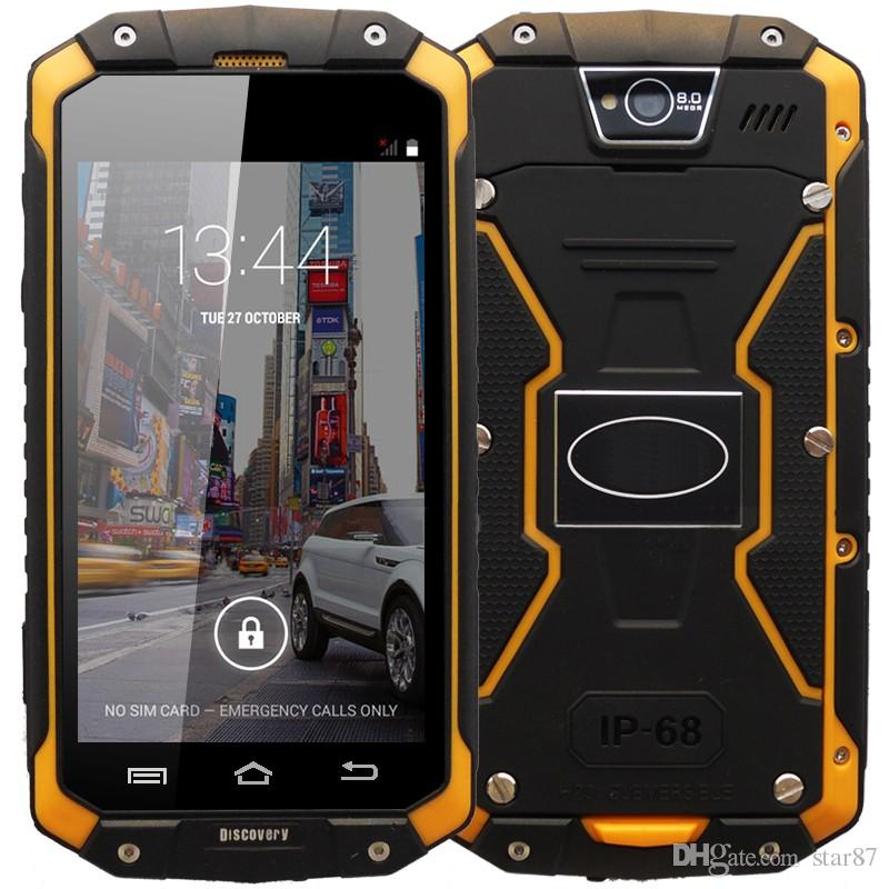 "Original Discovery V9 IP68 Rugged Waterproof Phone 4.5"" IPS MTK6572 Android 4.4 960X540 512MB RAM 4GB ROM WCDMA 3G Smart Phone"