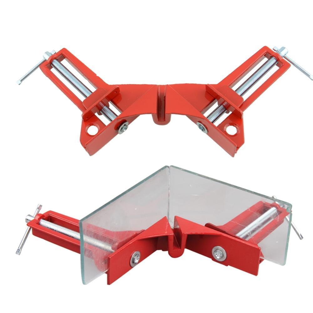 뜨거운 90도 직각 클립 그림 프레임 코너 클램프 목공 핸드 툴 키트 드롭 배송
