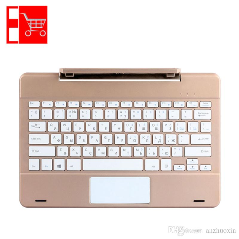 Transit Russische Tastatur großhandel russisch englisch gold grau schlank rotierende welle
