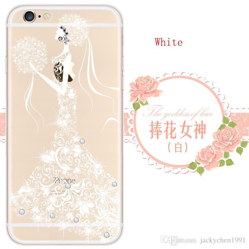 Printing Painting Relief phone Case cover Goddess Bling Rhonestone for  iPhone 6/6S/6plus /6S Plus