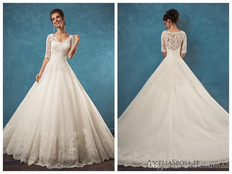 2018 Wedding Dress Amelia Sposa Patrizia Lace Ball Gown Wedding ...