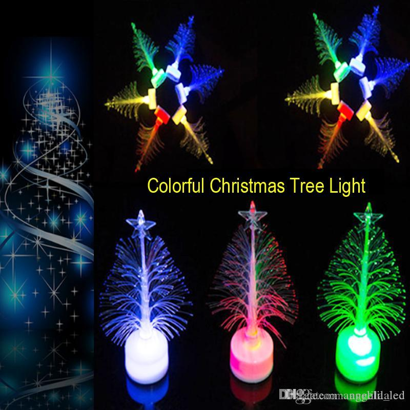 2017 led night lights christmas festival decoration lamp led tree fibre optical light decorating home restaurant store party from angelila_led - Christmas Tree Night Light