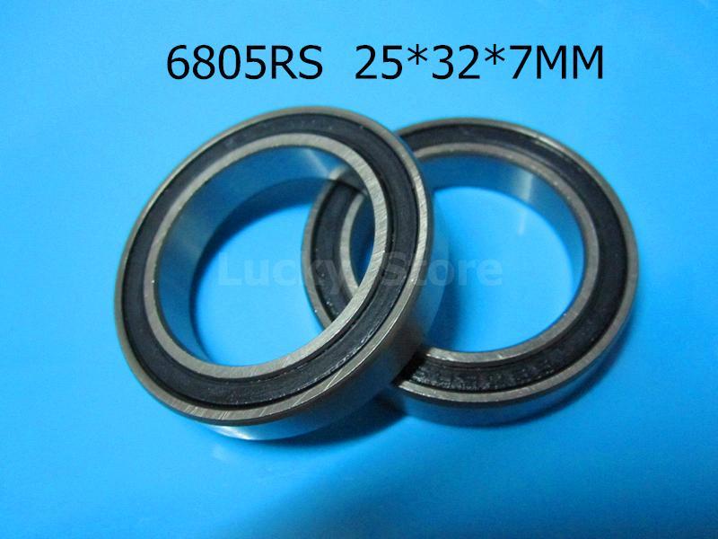 6805 RS teniendo envío gratis 6805 6805RS 25 * 37 * 7 mm de acero cromado ranura profunda Caucho sellado rodamiento Rodamiento de la pared delgada